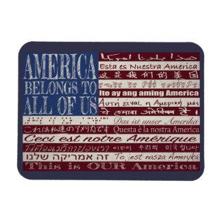 América pertence a todos nós ímã