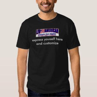 American Express que vivo seus direitos T-shirt
