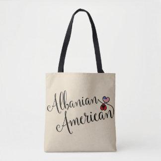 Americano albanês a bolsa de compra entrelaçada