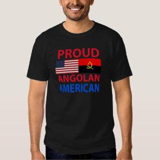 Americano angolano orgulhoso camisetas