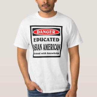 Americano asiático educado camiseta