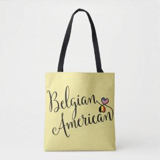 Americano belga a bolsa de compra entrelaçada dos