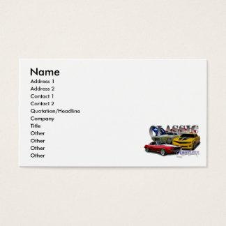 Americano clássico cartão de visitas