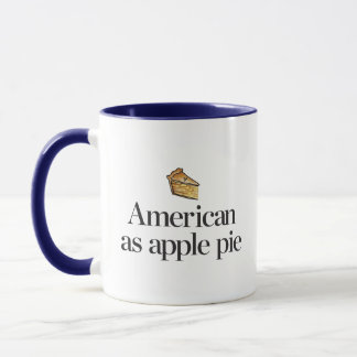 Americano como a torta de Apple Caneca