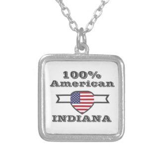 Americano de 100%, Indiana Colar Banhado A Prata