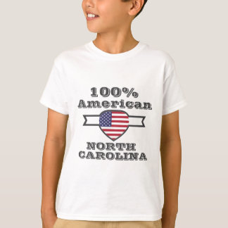 Americano de 100%, North Carolina Camiseta