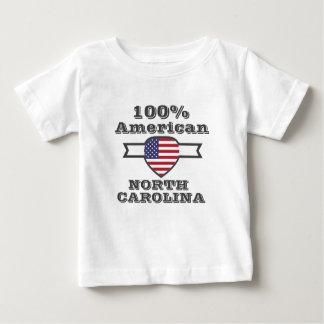 Americano de 100%, North Carolina Camiseta Para Bebê