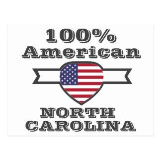 Americano de 100%, North Carolina Cartão Postal