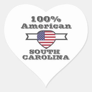 Americano de 100%, South Carolina Adesivo Coração