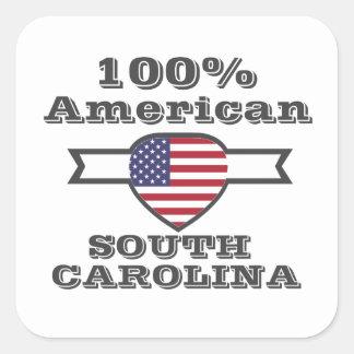 Americano de 100%, South Carolina Adesivo Quadrado