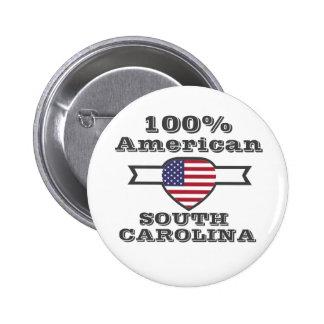 Americano de 100%, South Carolina Bóton Redondo 5.08cm