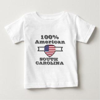 Americano de 100%, South Carolina Camiseta Para Bebê