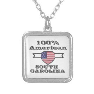 Americano de 100%, South Carolina Colar Banhado A Prata