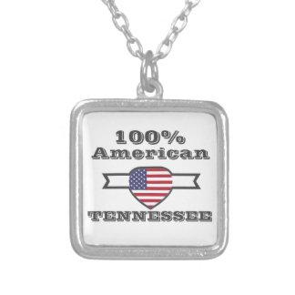 Americano de 100%, Tennessee Colar Banhado A Prata