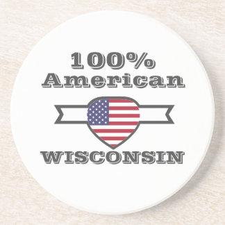 Americano de 100%, Wisconsin Porta Copos De Arenito