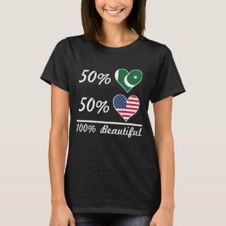 Americano do paquistanês 50% de 50% 100% bonito camiseta