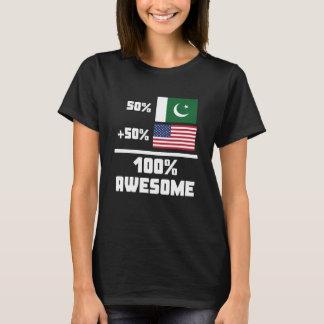 Americano do paquistanês 50% de 50% 100% camiseta