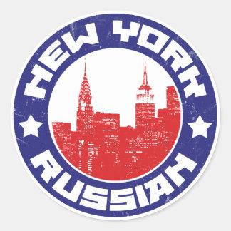 Americano do russo de New York Adesivo