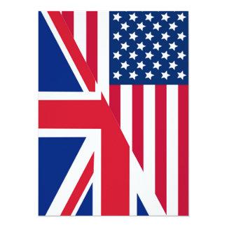Americano e cartão do convite da bandeira de Union
