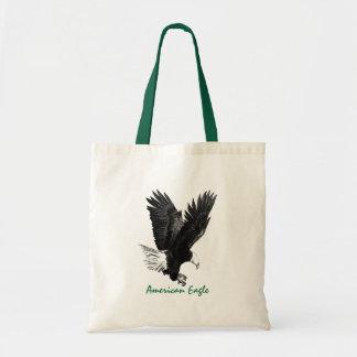 Americano Eagle que tira a bolsa de canvas