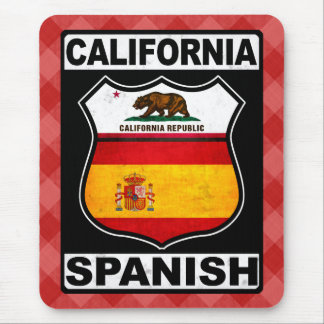 Americano espanhol Mousemat de Califórnia Mousepad