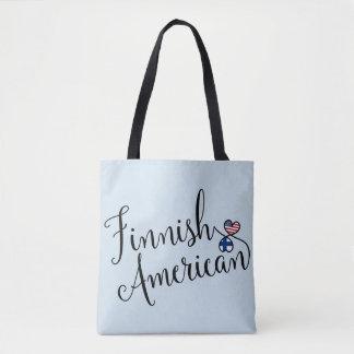 Americano finlandês a bolsa de compra entrelaçada