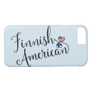 Americano finlandês capa de telefone entrelaçada