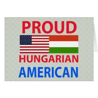 Americano húngaro orgulhoso cartoes