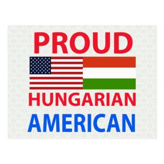 Americano húngaro orgulhoso cartões postais