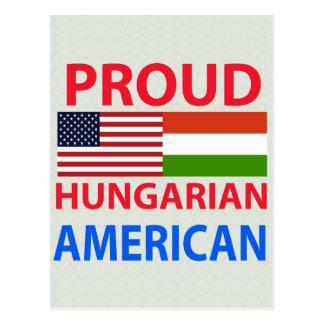 Americano húngaro orgulhoso cartoes postais