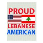 Americano libanês orgulhoso cartão postal