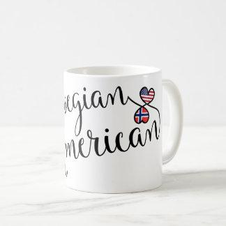 Americano norueguês caneca entrelaçada dos