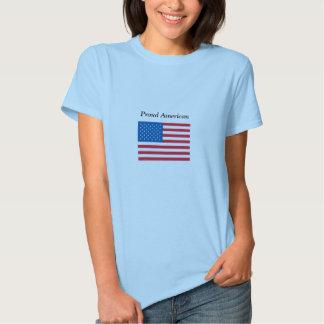 Americano orgulhoso - bandeira dos EUA - t-shirt