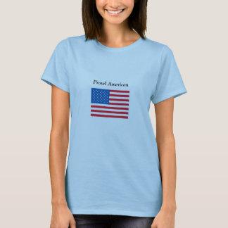 Americano orgulhoso - bandeira dos EUA - t-shirt Camiseta