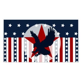 Americano patriótico da águia americana da bandeir cartões de visitas