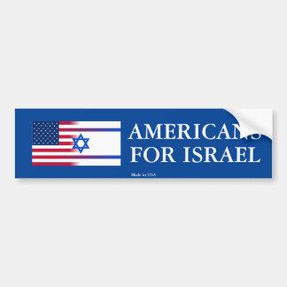 Americanos de Pro-Israel para o autocolante no Adesivo Para Carro