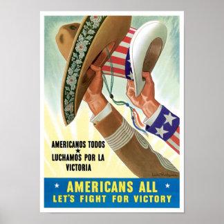 Americanos todos poster