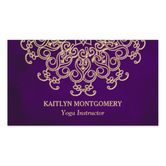 Ametista e mandala do ouro cartão de visita