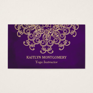 Ametista e mandala do ouro cartão de visitas