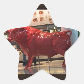 Amigo apto da luta animal furioso vermelha do adesito estrela