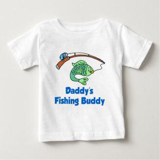 Amigo da pesca do pai camiseta para bebê