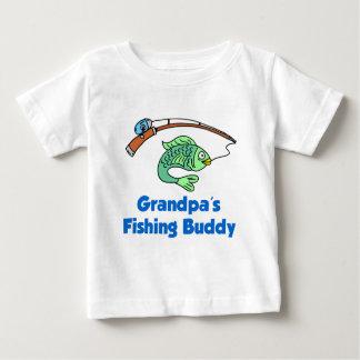 Amigo da pesca do vovô camiseta para bebê