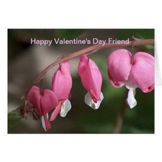 Amigo do feliz dia dos namorados cartão comemorativo