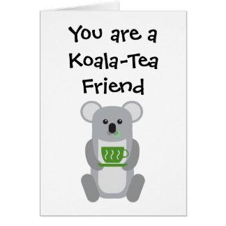 Amigo do Koala-Chá - cartão