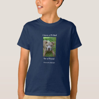 Amigo do pitbull camiseta