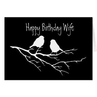 Amigo especial da esposa do feliz aniversario, doi cartão comemorativo