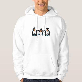 Amigos adoráveis do pinguim moletom