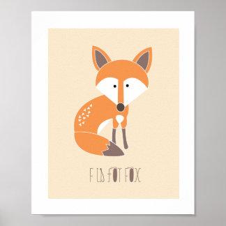 Amigos da floresta - F é para o impressão da arte