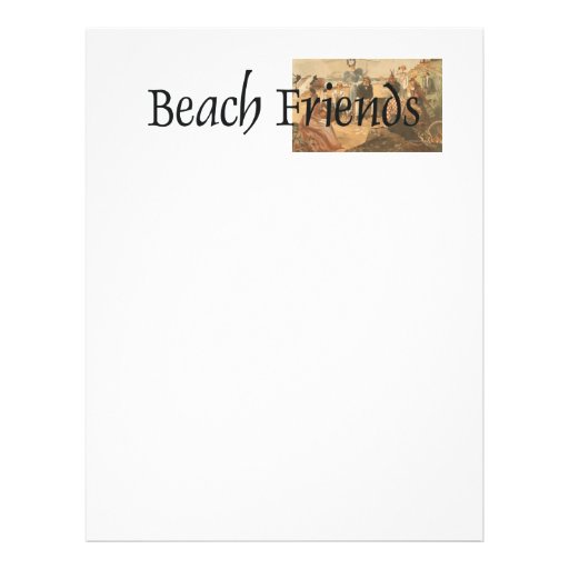 Amigos da praia do T Modelo De Panfleto