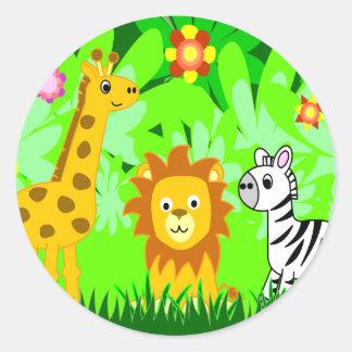 Amigos da selva adesivo
